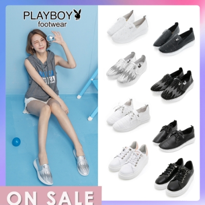 【時時樂限定】PLAYBOY百舒適真皮休閒鞋-4款任選