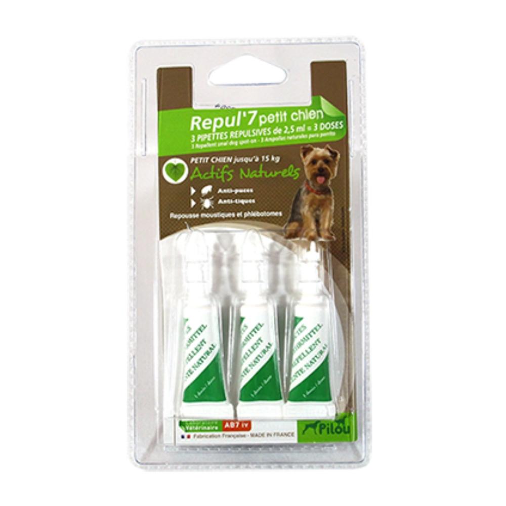 法國皮樂 Pilou 小型犬用 天然除蚤驅蝨防蚊滴劑 兩入組
