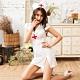 Sexy Cynthia 角色扮演 迷人小護士三件式開衩排釦連身裙丁字褲角色服-白F product thumbnail 1