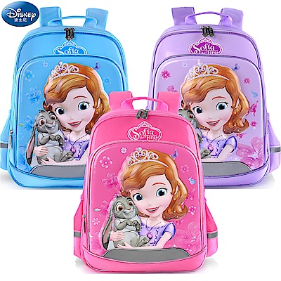 Disney 迪士尼 小公主蘇菲亞3D防潑水立體護脊書包 3色可選