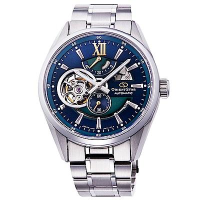 ORIENT東方STAR東方之星機械錶手錶RE-DK0001L-藍綠/41mm