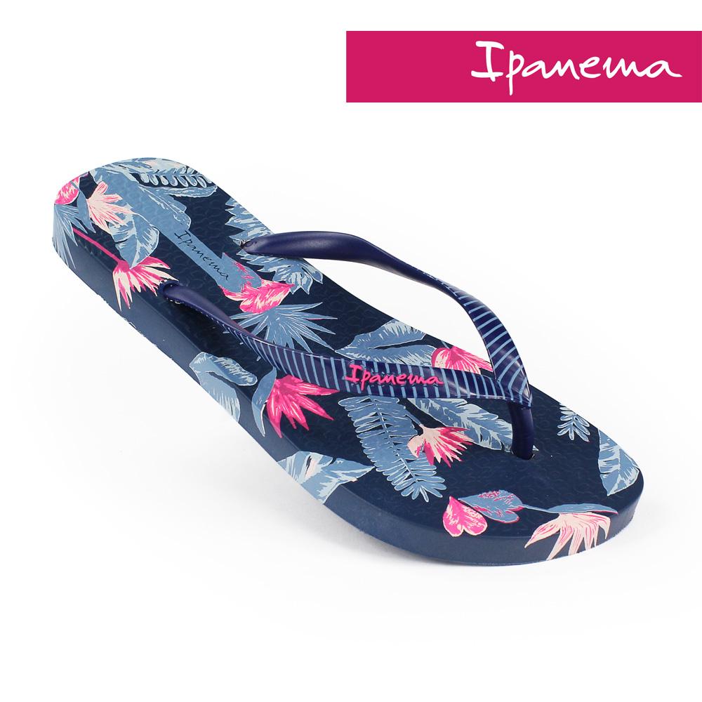 IPANEMA 女 熱帶雨林人字拖鞋-粉藍色/海軍藍
