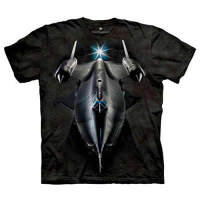 摩達客-美國進口The Mountain Smithsonian系列 黑鳥偵察機 純棉環保短袖T恤(大尺碼 3XL)