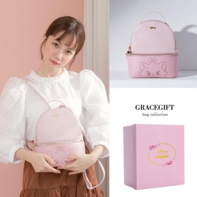 Disney collection by gracegift-櫻花粉嫩瑪麗貓後揹包 粉