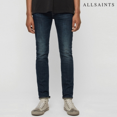 ALLSAINTS CIGARETTE 水洗彈力棉質緊身牛仔褲-靛青