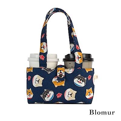Blomur 雙杯套/早餐袋-萌萌柴犬(藍)