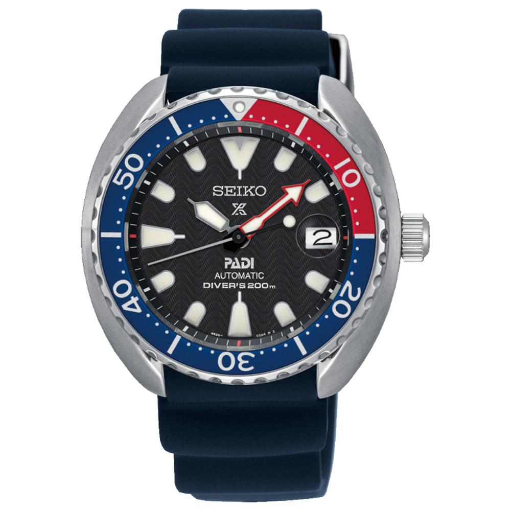 SEIKO精工Prospex PADI可樂潛水機械錶(SRPC41J1)-黑/42.3mm