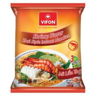 【VIFON味豐】越南 泰式蝦風味泡麵 70g/包