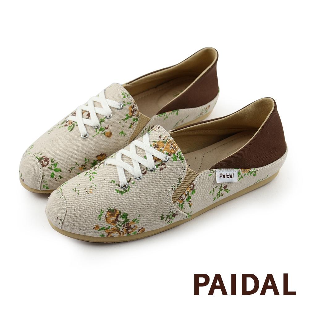 Paidal 踩腳鞋2WAY懶人鞋不彎腰鞋-日系小花