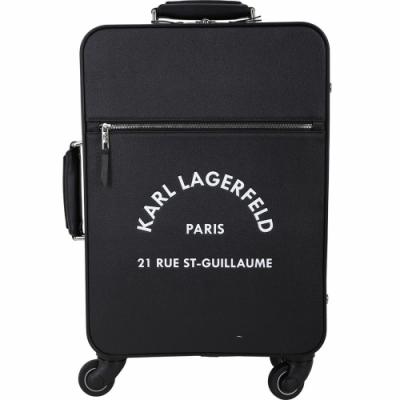 KARL LAGERFELD Rue St Guillaume 住址系列行李箱(黑色)