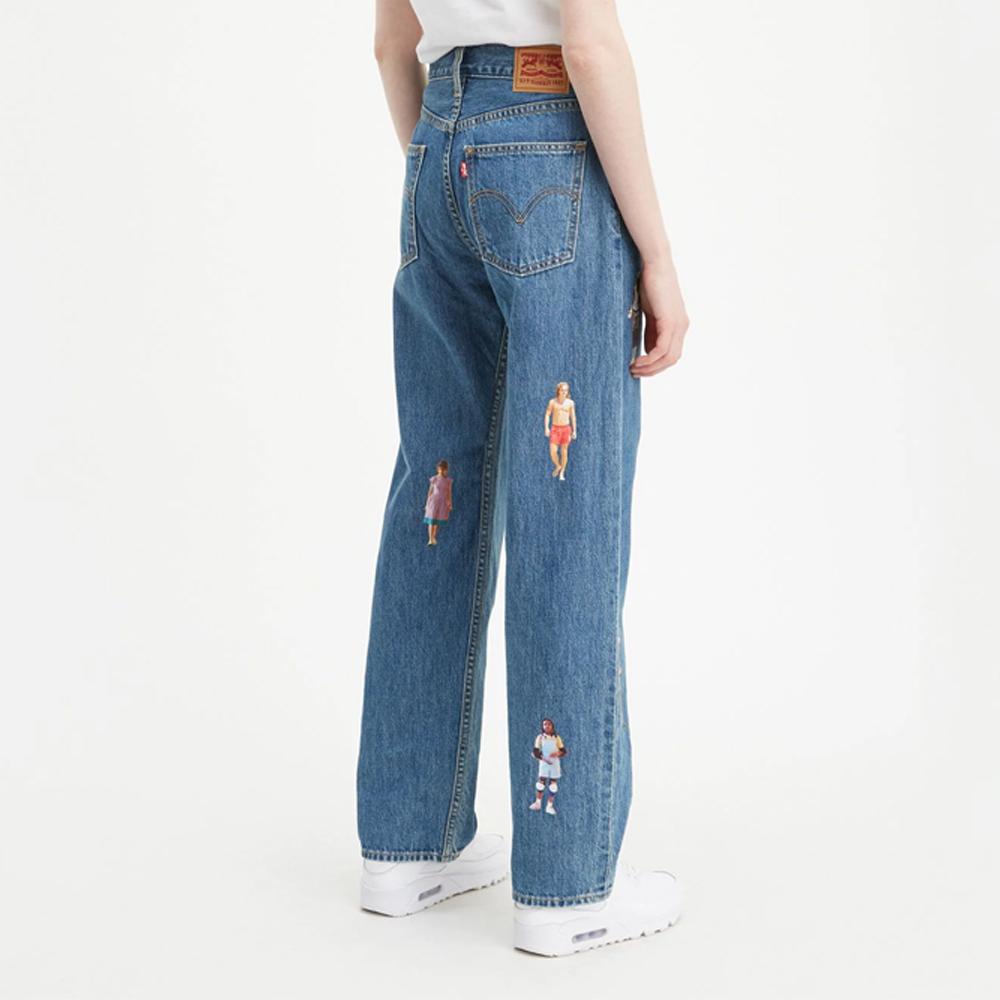 Levis X 怪奇物語限量聯名 女款高腰直筒牛仔褲 寬鬆遮肉 復古老爹風