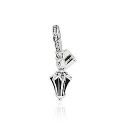Pandora 潘朵拉 迪士尼系列  Mary Poppins鑲鋯琺瑯傘 垂墜純銀墜飾
