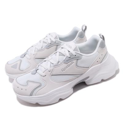 Reebok 休閒鞋 Royal Aadorun 運動 男女鞋 經典款 老爹鞋 厚底 舒適 情侶穿搭 白 灰 FW6350