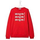 MSGM 紅色Logo大學T (童)