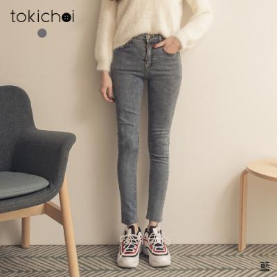 東京著衣 顯瘦必備微彈窄管牛仔長褲-S.M.L