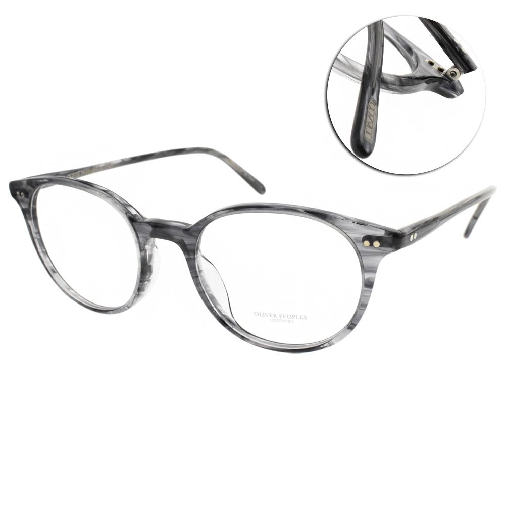 OLIVER PEOPLES光學眼鏡  歐美經典圓框款/水墨灰藍#MIKETT 1688