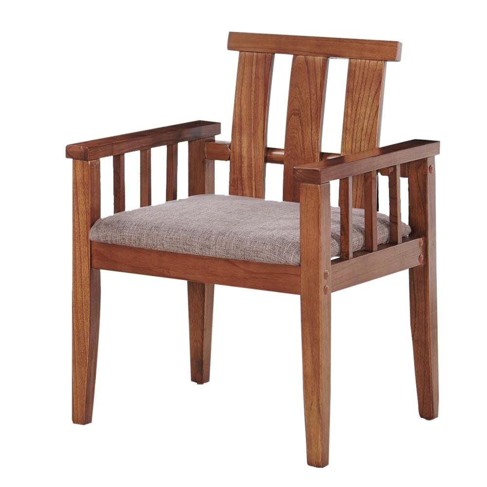 文創集 達西亞麻布單人座實木沙發椅-59.5x56x82.5cm免組