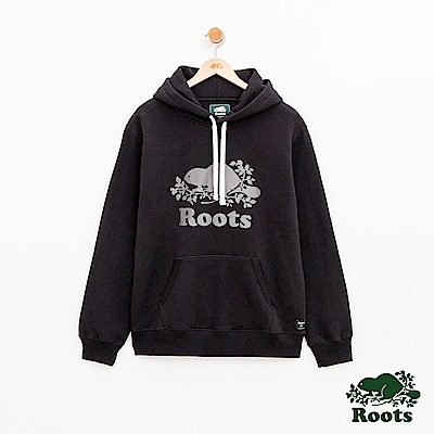 Roots 男裝- 反光庫柏海狸連帽上衣-黑