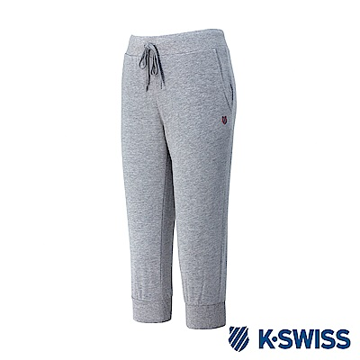 K-Swiss Capri Sweatshorts棉質七分褲-女-灰