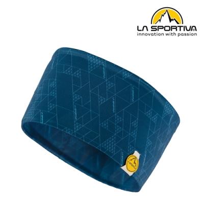【義大利 LA SPORTIVA】Protect Headband 幾何圖形運動頭帶 藍色 #Y08618614