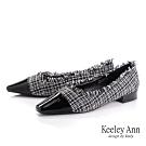 Keeley Ann我的日常生活 格紋虛邊低跟包鞋(黑色-Ann系列)