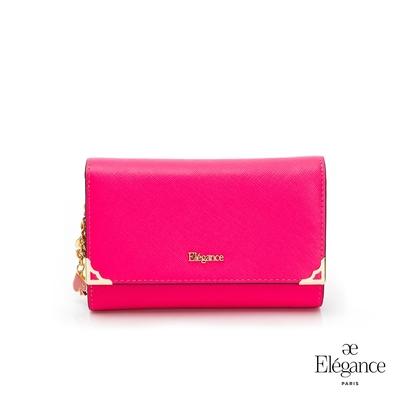 【Elegance】LIVELY 十字紋中夾-桃紅色