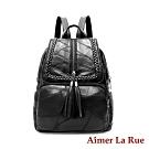 Aimer La Rue 後背包 羊皮瓦迪系列(黑色)