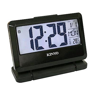 KINYO 大字幕可傾斜LCD多功能電子鐘