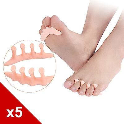 糊塗鞋匠 優質鞋材 J48 矽膠五指間隔墊 5雙