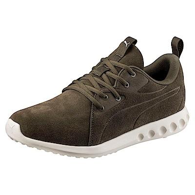 PUMA-Carson2MoldedSuede男女慢跑運動鞋-深橄綠