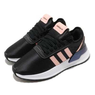 adidas 休閒鞋 U Path X 襪套式 女鞋 愛迪達 三葉草 流行 穿搭 緞面滑布 黑 粉 FV9256