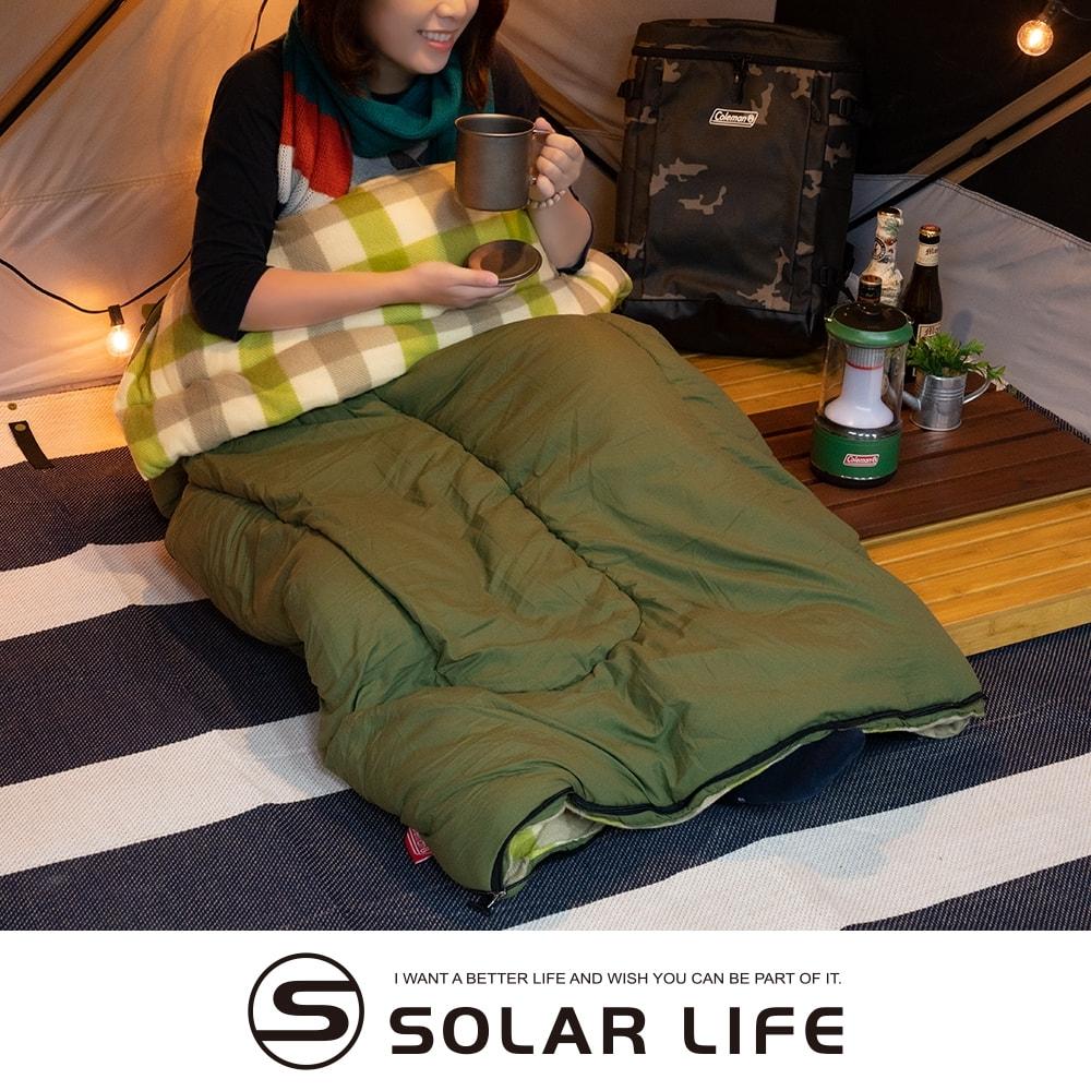 Coleman EZ 橄欖葉刷毛睡袋/C0 CM-33802.信封型睡袋 化纖睡袋 可機洗拼接 露營睡袋 登山保暖睡袋