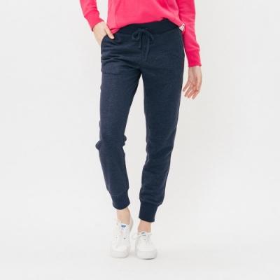 ROOTS女裝 - 立體LOGO毛圈布休閒棉褲-藍