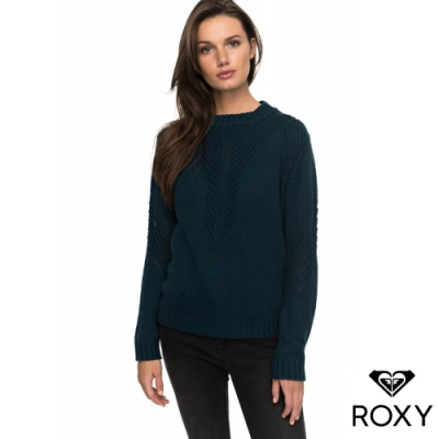 【ROXY】TAKE OVER THE WORLD 針織衫 藍綠色