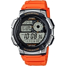 CASIO 卡西歐 10年電力手錶-橘(AE-1000W-4B)