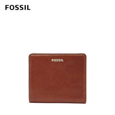FOSSIL Madison 真皮經典短夾-咖啡色 SWL2229210