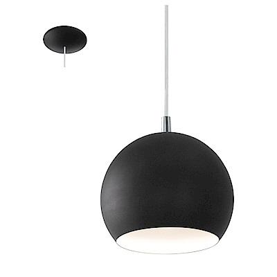 EGLO歐風燈飾 黑圓罩式吊燈(不含燈泡)