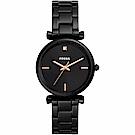 FOSSIL Carlie 系列酷時代女仕石英女錶(ES4442)-黑/34mm
