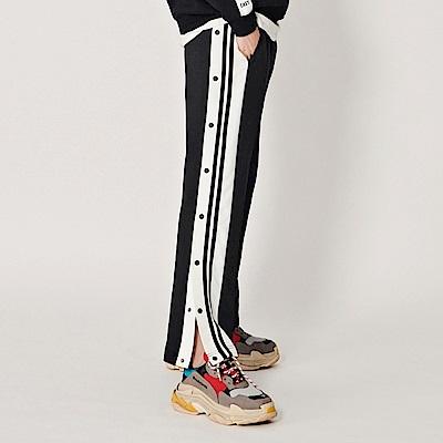 CACO-側剪接排釦長褲(兩色)-女【RST014】