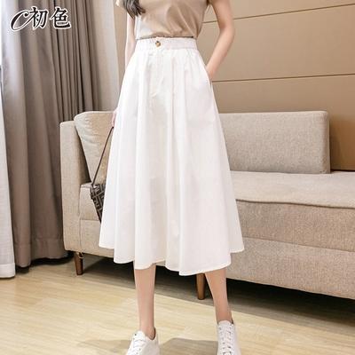 初色  夏季工裝風半身裙-共4色-(M-XL可選)