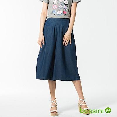 bossini女裝-休閒牛仔寬褲01靛藍