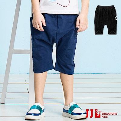 JJLKIDS Ocean英字燙印七分休閒棉褲(2色)