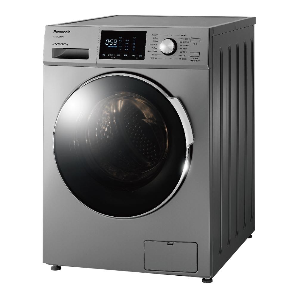[時時樂限定]Panasonic國際牌 變頻12公斤洗脫烘滾筒洗衣機 NA-V120HDH-G