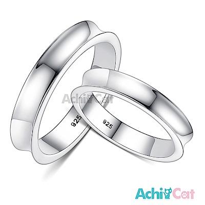 AchiCat 情侶戒指 925純銀戒指 愛的進行式 單個價格