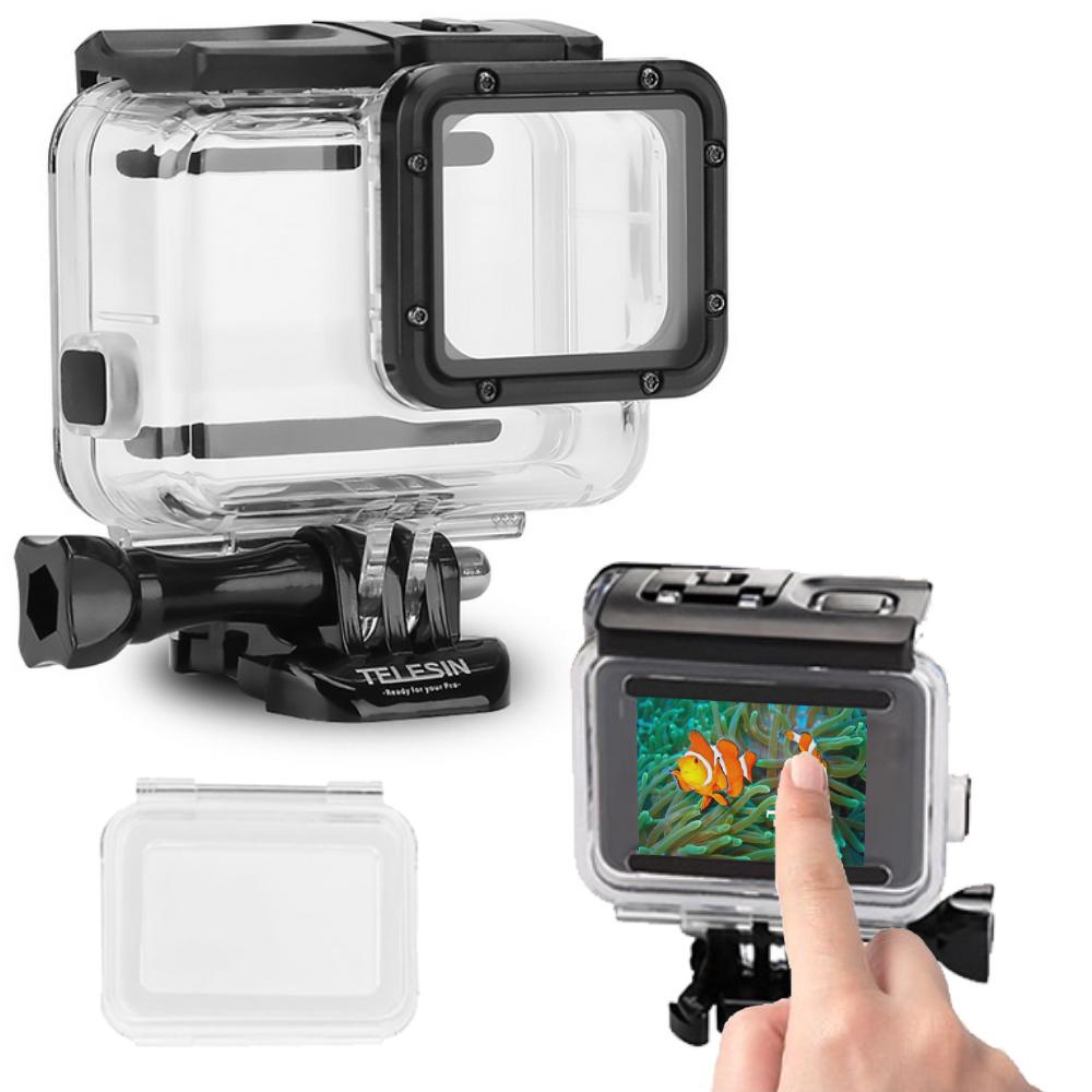 TELESIN GoPro HERO 5 6 7 可觸控 透明防水殼 (免拆鏡頭)