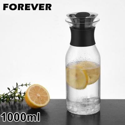 日本FOREVER 歐式丹麥風格耐熱玻璃水壺1000ML