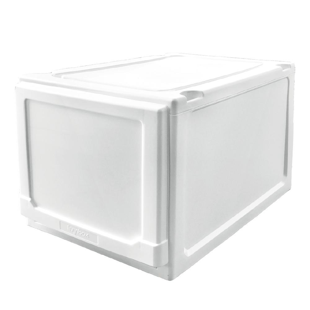 完美主義 加高可堆疊收納箱/塑膠櫃/收納櫃 1入(2色)