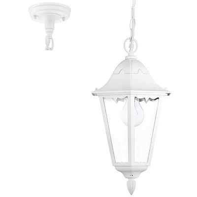 EGLO歐風燈飾 宮廷風白色造型玻璃吊燈/玄關燈(不含燈泡)