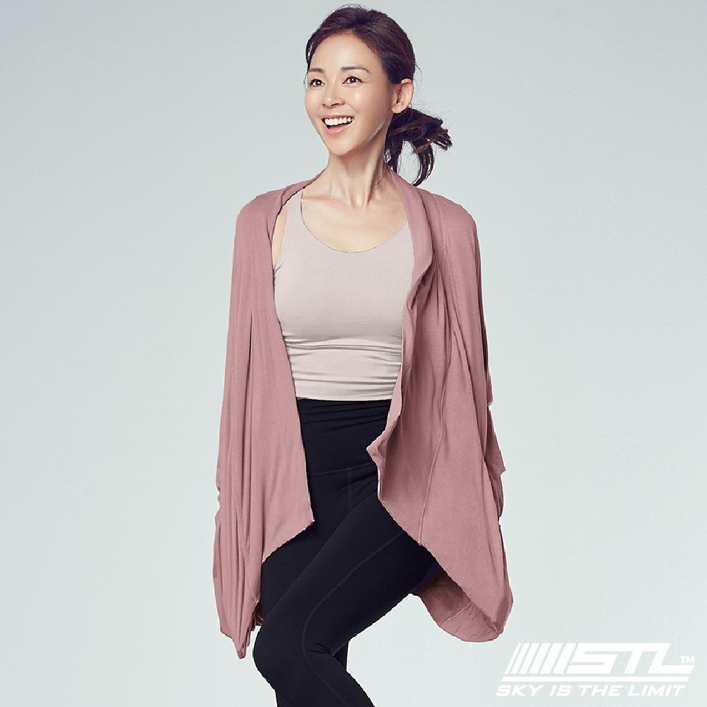 STL yoga Metro Cardigan 韓國瑜珈 運動開襟長版罩衫外套 乾燥玫瑰