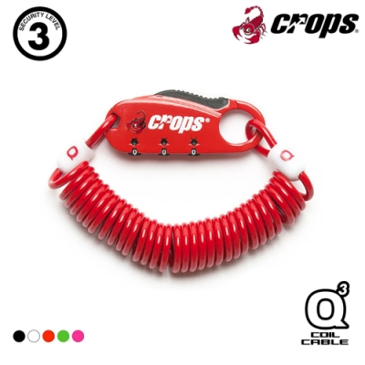 CROPS Q3多用途密碼鎖CP-SPD08 / 紅色